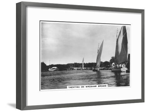Yachting on Wroxham Broads, 1936--Framed Art Print