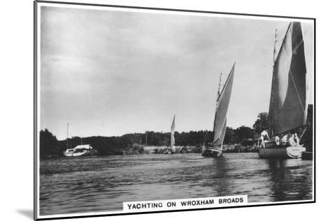 Yachting on Wroxham Broads, 1936--Mounted Giclee Print