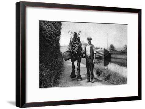 A Horse Pulling a Canal Barge, 1926-1927--Framed Art Print