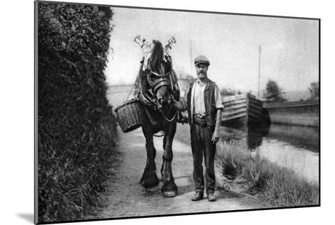 A Horse Pulling a Canal Barge, 1926-1927--Mounted Giclee Print