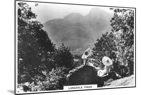 Langdale Pikes, Cumbria, 1936--Mounted Giclee Print