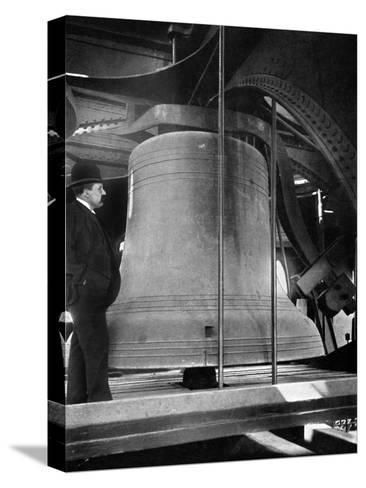 Bell in the Tower of Big Ben, Palace of Westminster, London, C1905--Stretched Canvas Print