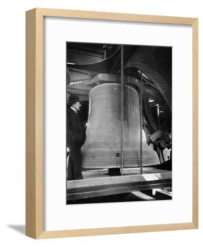 Bell in the Tower of Big Ben, Palace of Westminster, London, C1905--Framed Art Print