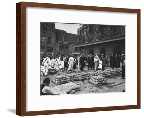 The Cheese Market on Friday, Alkmaar, Netherlands, C1934--Framed Art Print