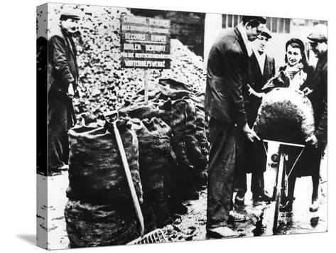 Winter Relief, Distribution of Coal, France 1940-1944--Stretched Canvas Print