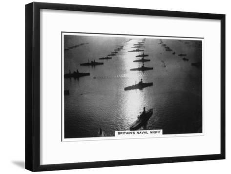 The British Fleet at King George V's Jubilee Review, Spithead, July 1935--Framed Art Print
