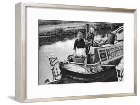 Washing Day on the Canal Boat, 1926-1927--Framed Art Print