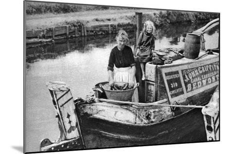 Washing Day on the Canal Boat, 1926-1927--Mounted Giclee Print