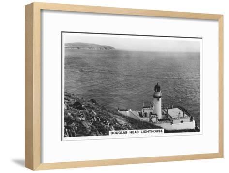 Douglas Head Lighthouse, Isle of Man, 1937--Framed Art Print