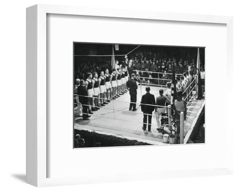 Amateur Boxing Competition Between Germany and Poland, 1936 Giclee ...