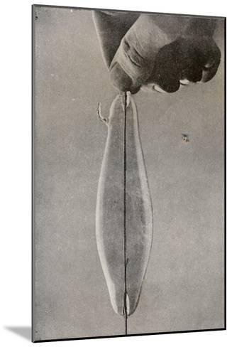 The First Incandescent Electric Lamp, C1916--Mounted Giclee Print