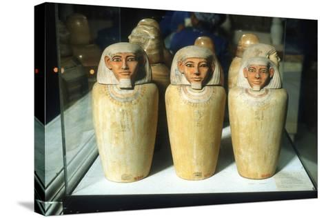 Canopic Jars, Ancient Egyptian, 26th Dynasty, 664-525 BC--Stretched Canvas Print