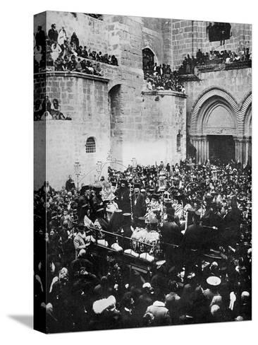 The Washing of the Feet, Church of the Holy Sepulchre, Jerusalem--Stretched Canvas Print