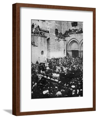 The Washing of the Feet, Church of the Holy Sepulchre, Jerusalem--Framed Art Print