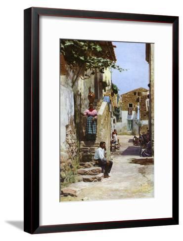 Street Scene, Taormina, Sicily, Italy, C1923--Framed Art Print