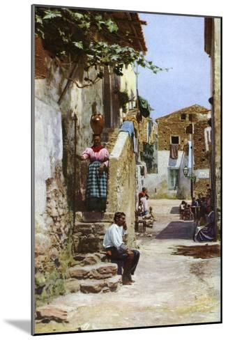 Street Scene, Taormina, Sicily, Italy, C1923--Mounted Giclee Print