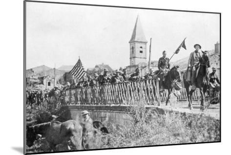 American Soldiers Entering the Village of Nonsard, Near Saint-Mihiel, France, 12-15 September 1918--Mounted Giclee Print