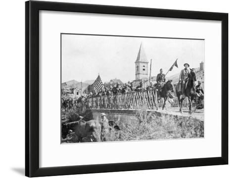 American Soldiers Entering the Village of Nonsard, Near Saint-Mihiel, France, 12-15 September 1918--Framed Art Print