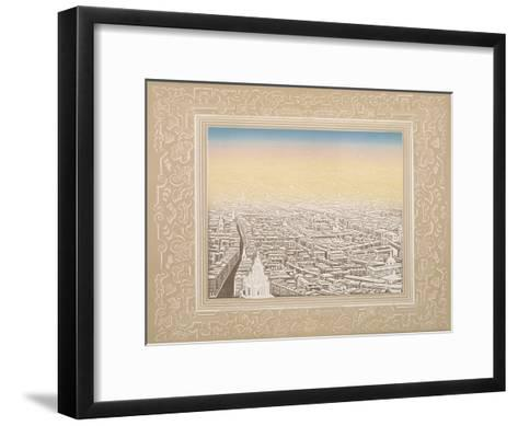 Aerial View of London Framed in a Decorative Border, C1845-Kronheim & Co-Framed Art Print