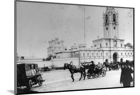 Coach Station at the Strastnoy Monastery, Moscow, Russia, C1900-C1905--Mounted Giclee Print