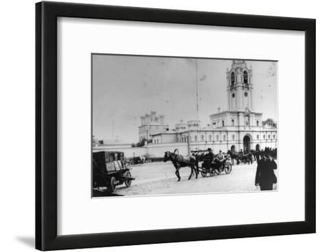 Coach Station at the Strastnoy Monastery, Moscow, Russia, C1900-C1905--Framed Art Print