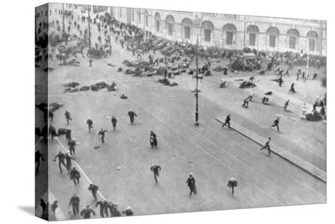 Street Fighting in Petrograd, Russia, 17th July 1917--Stretched Canvas Print