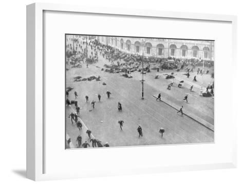Street Fighting in Petrograd, Russia, 17th July 1917--Framed Art Print