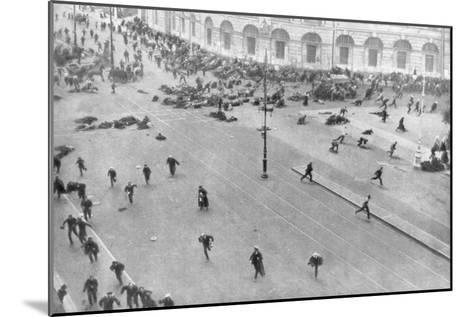 Street Fighting in Petrograd, Russia, 17th July 1917--Mounted Giclee Print