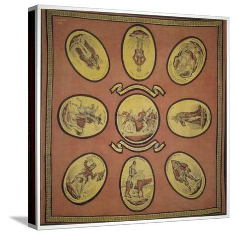 Handkerchief Commemorating Several Events in the Mayoralty of Alderman Sir John Key, 1831--Stretched Canvas Print