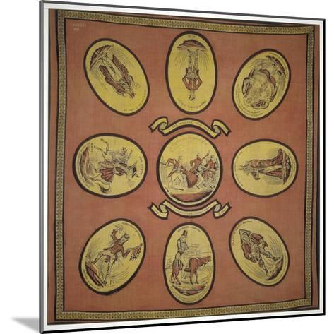Handkerchief Commemorating Several Events in the Mayoralty of Alderman Sir John Key, 1831--Mounted Giclee Print