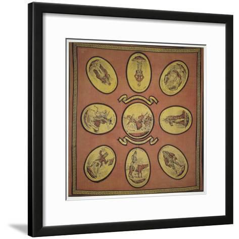 Handkerchief Commemorating Several Events in the Mayoralty of Alderman Sir John Key, 1831--Framed Art Print