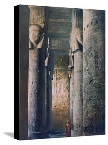The Grand Hall, Temple of Hathor, Dendera, Egypt, 20th Century--Stretched Canvas Print