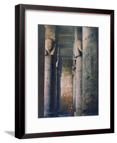 The Grand Hall, Temple of Hathor, Dendera, Egypt, 20th Century--Framed Art Print