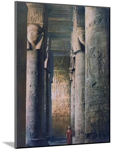 The Grand Hall, Temple of Hathor, Dendera, Egypt, 20th Century--Mounted Giclee Print