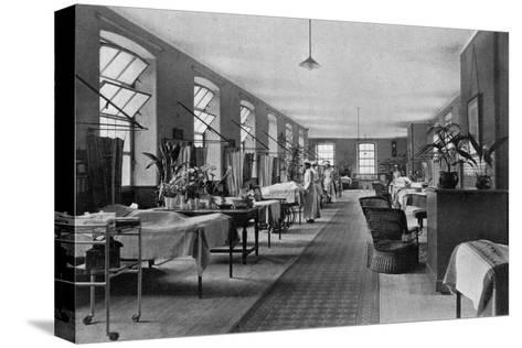 A Ward in Guy's Hospital, Southwark, London, 1904--Stretched Canvas Print