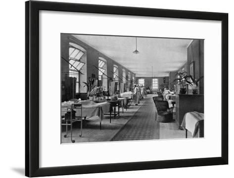 A Ward in Guy's Hospital, Southwark, London, 1904--Framed Art Print