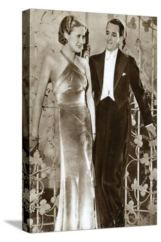 Molly Lamont and Gene Gerrard, Actors, 1933--Stretched Canvas Print