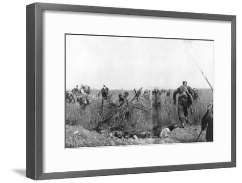 Charge by a Regiment of French Zouaves on the Plateau of Touvent, Artois, France, 7 June 1915--Framed Art Print