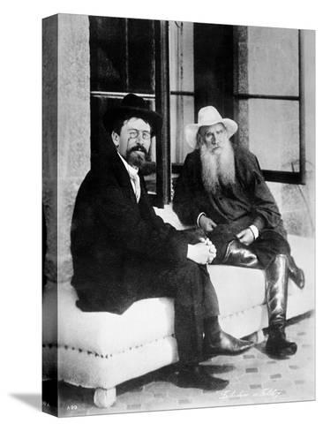 Chekhov and Tolstoy, Late 19th Century--Stretched Canvas Print
