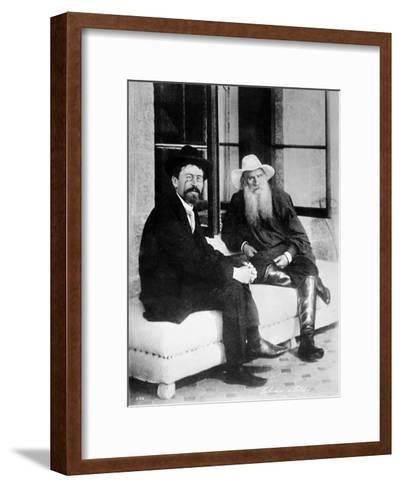 Chekhov and Tolstoy, Late 19th Century--Framed Art Print