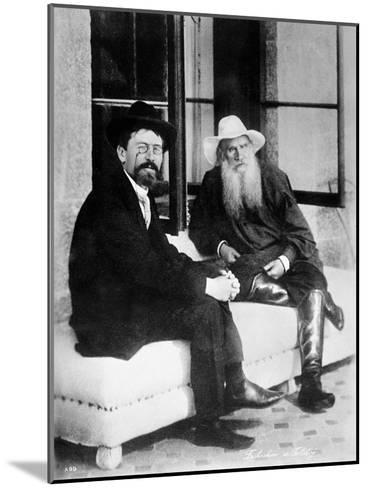 Chekhov and Tolstoy, Late 19th Century--Mounted Giclee Print