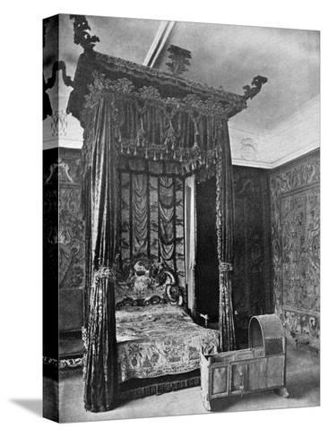 Queen Elizabeth's Bed, Haddon Hall, Derbyshire, 1924-1926--Stretched Canvas Print