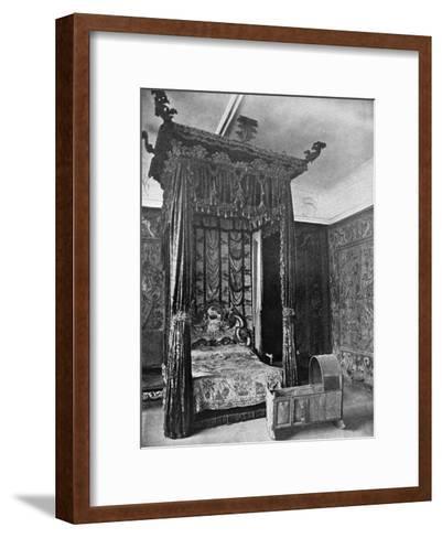 Queen Elizabeth's Bed, Haddon Hall, Derbyshire, 1924-1926--Framed Art Print