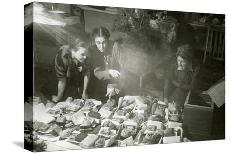 Actresses of the Moscow Art Theatre Preparing Presents for the Red Army, USSR, 1943--Stretched Canvas Print