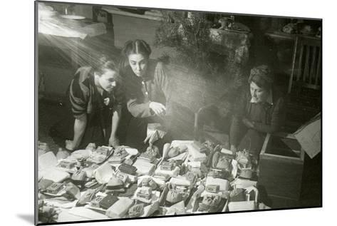 Actresses of the Moscow Art Theatre Preparing Presents for the Red Army, USSR, 1943--Mounted Giclee Print