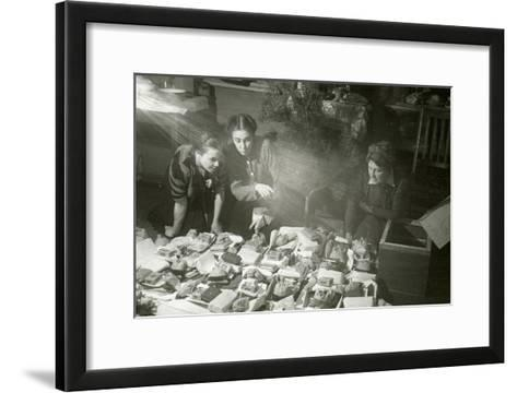 Actresses of the Moscow Art Theatre Preparing Presents for the Red Army, USSR, 1943--Framed Art Print
