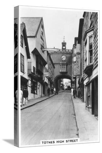Eastgate, Totnes High Street, Devon, 1937--Stretched Canvas Print