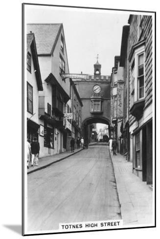 Eastgate, Totnes High Street, Devon, 1937--Mounted Giclee Print