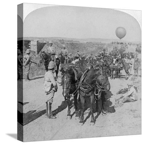 84th Battery and Balloon Corps, Boer War, South Africa, 1901-Underwood & Underwood-Stretched Canvas Print