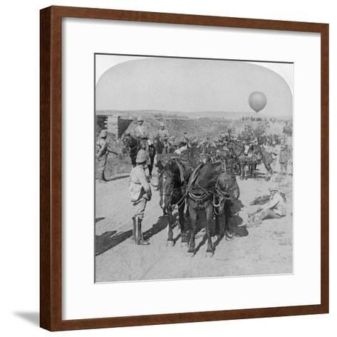 84th Battery and Balloon Corps, Boer War, South Africa, 1901-Underwood & Underwood-Framed Art Print